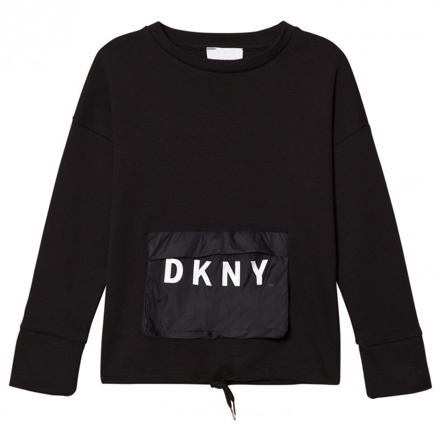 Dkny Black Branded Pocket Top T-Paita