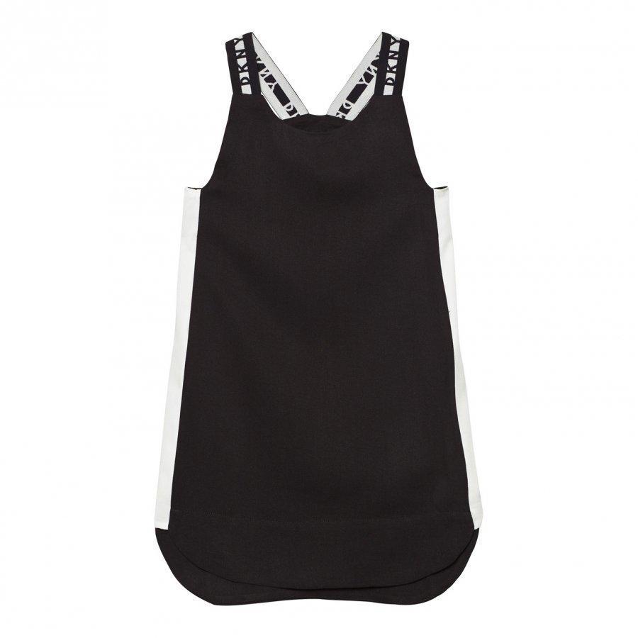 Dkny Black Branded Strap Sports Dress Mekko