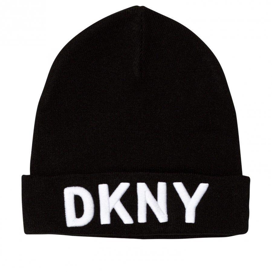 Dkny Black Branded Unisex Beanie Pipo
