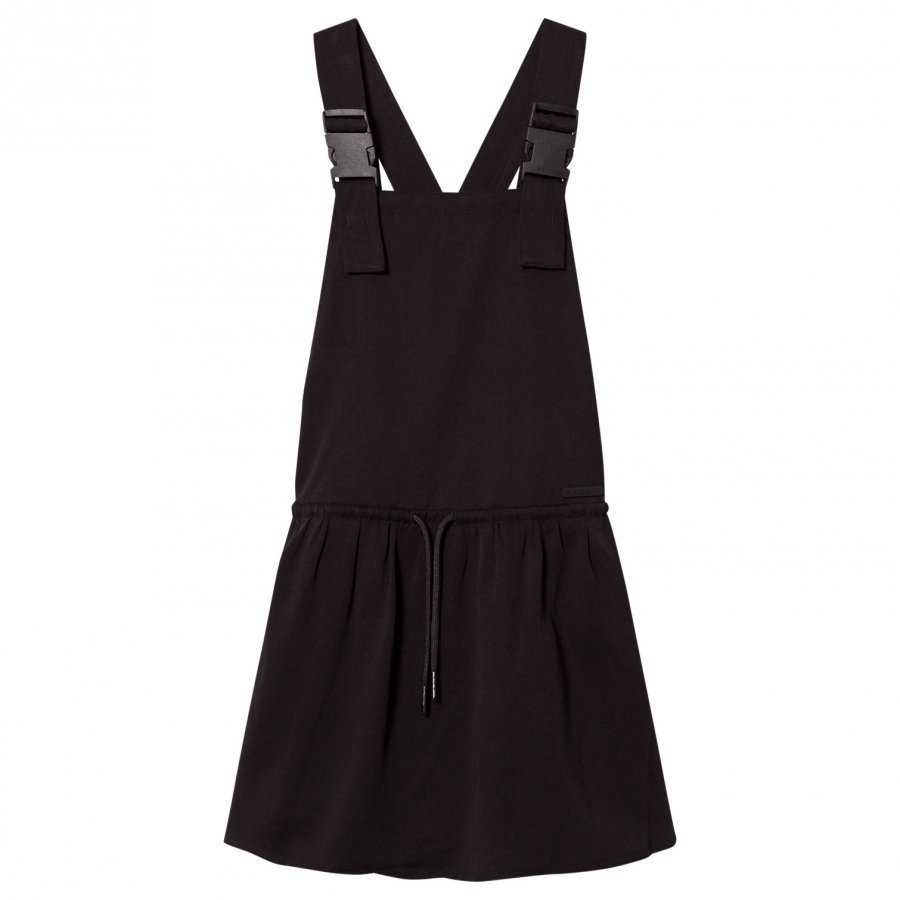 Dkny Black Dungaree Dress Mekko