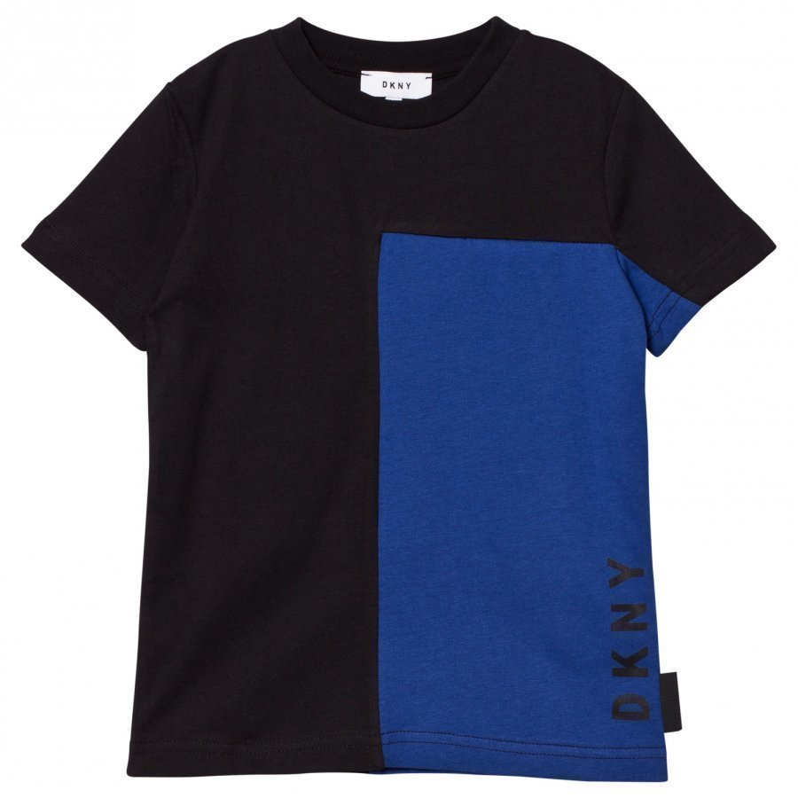 Dkny Black/Blue Branded Tee T-Paita
