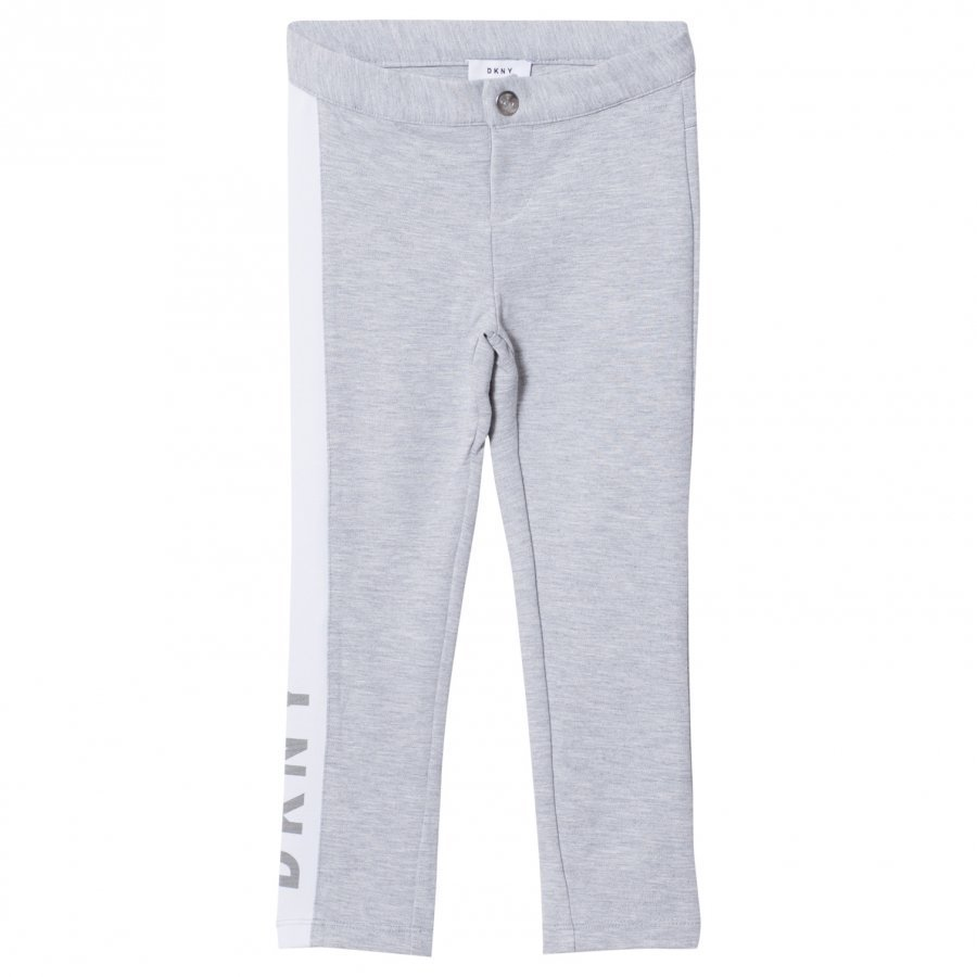 Dkny Grey Jersey Branded Slim Sweat Pants Verryttelyhousut