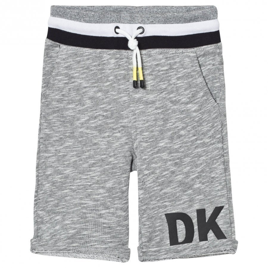 Dkny Grey Marl Sweat Shorts With Rubberised Logo Oloasun Shortsit