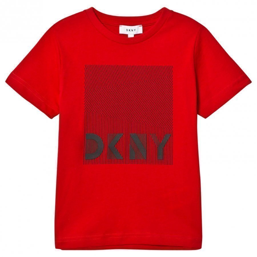 Dkny Red Branded Graphic Tee T-Paita