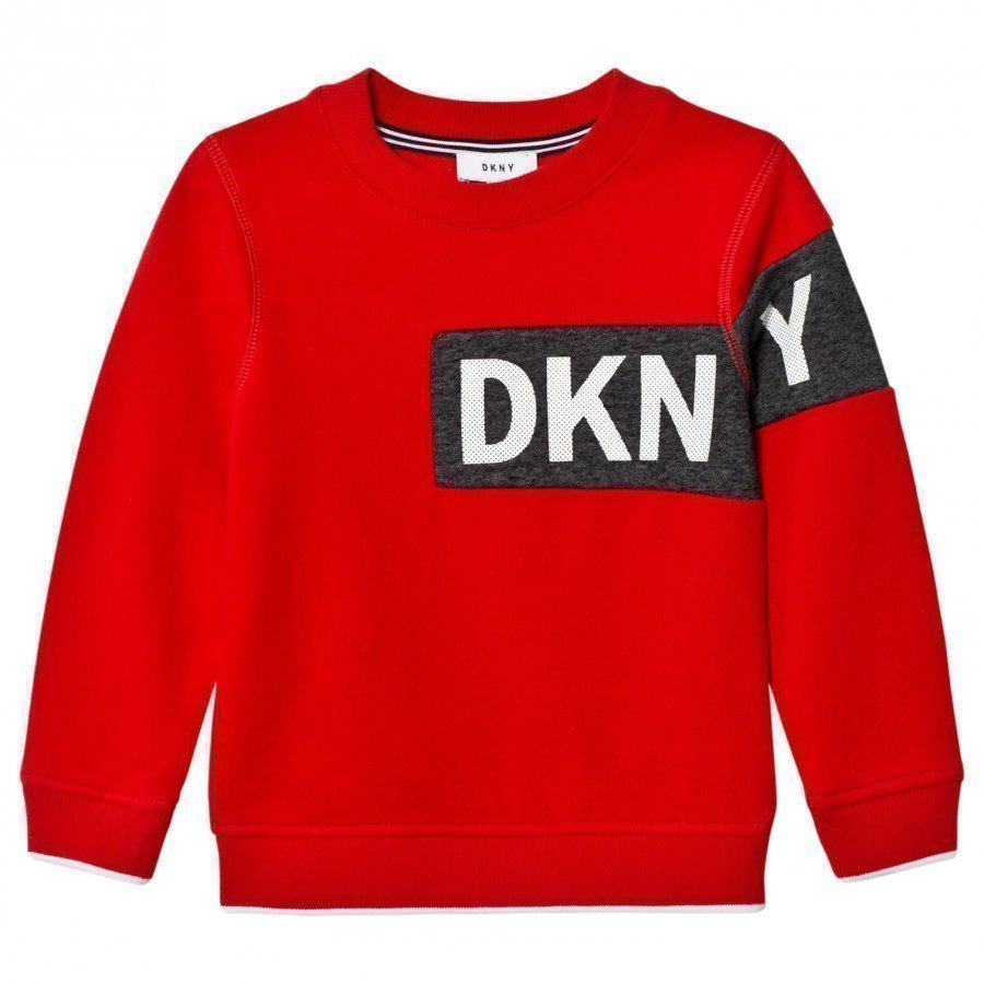 Dkny Red Branded Sweatshirt Oloasun Paita