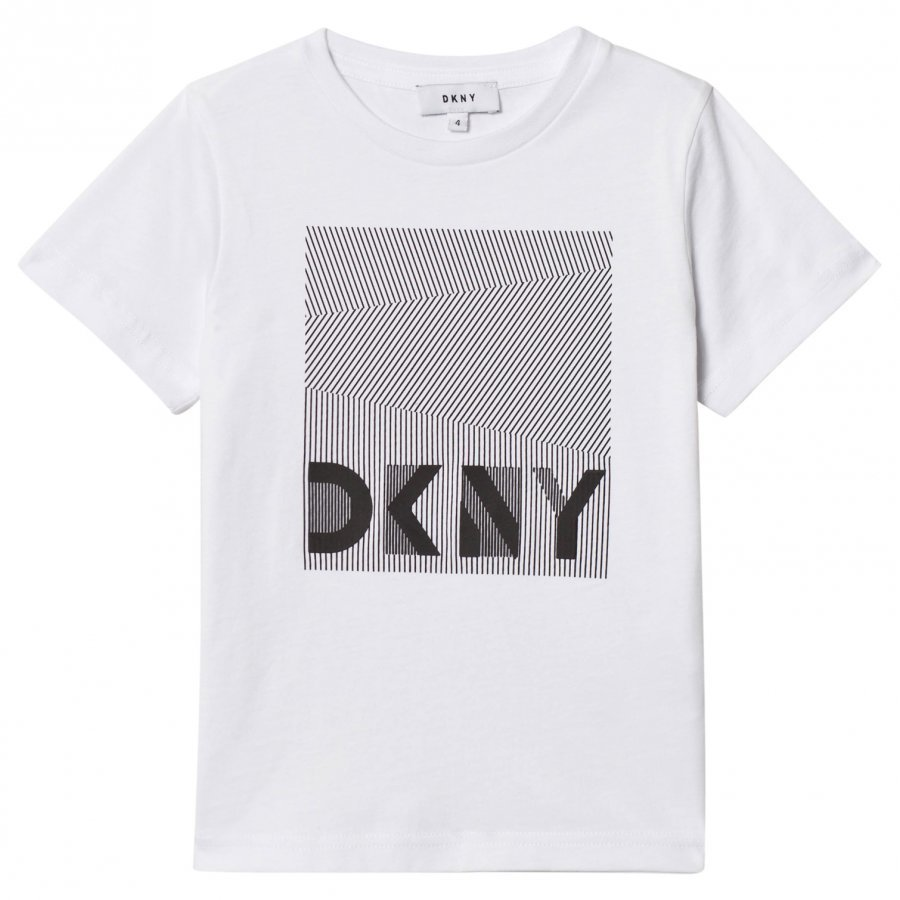 Dkny White Branded Graphic Tee T-Paita