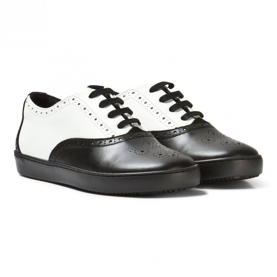 Dolce & Gabbana Black And White Brogue Trainers Lenkkarit