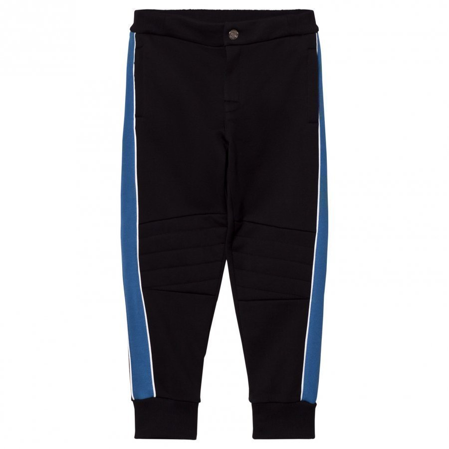 Dolce & Gabbana Black Applique Badges Sweat Pants Verryttelyhousut