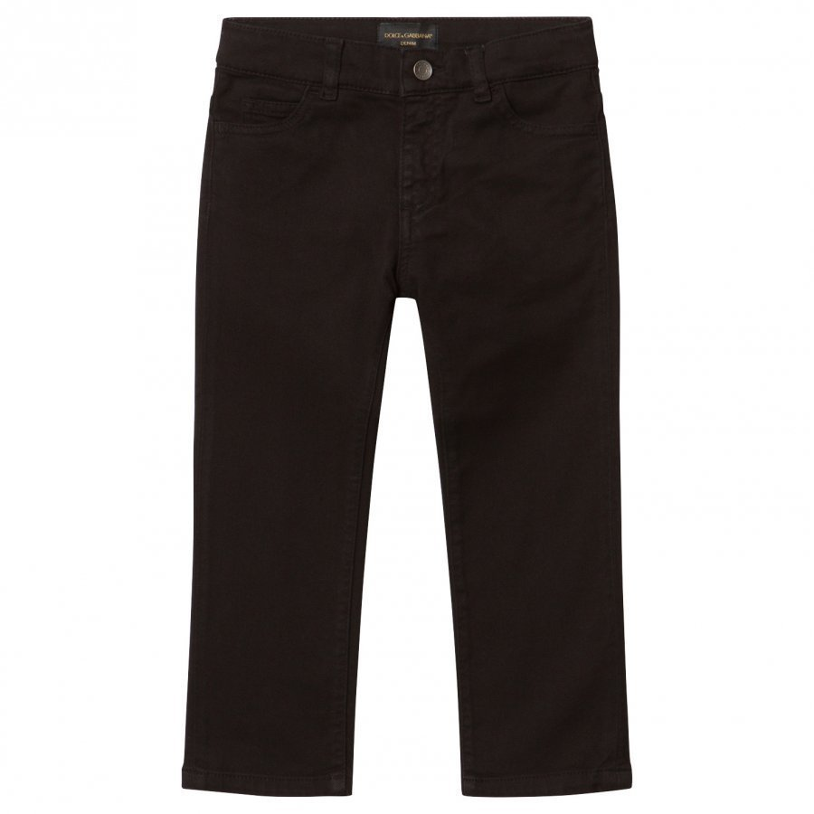 Dolce & Gabbana Black Jeans With Muscial Note Applique Farkut
