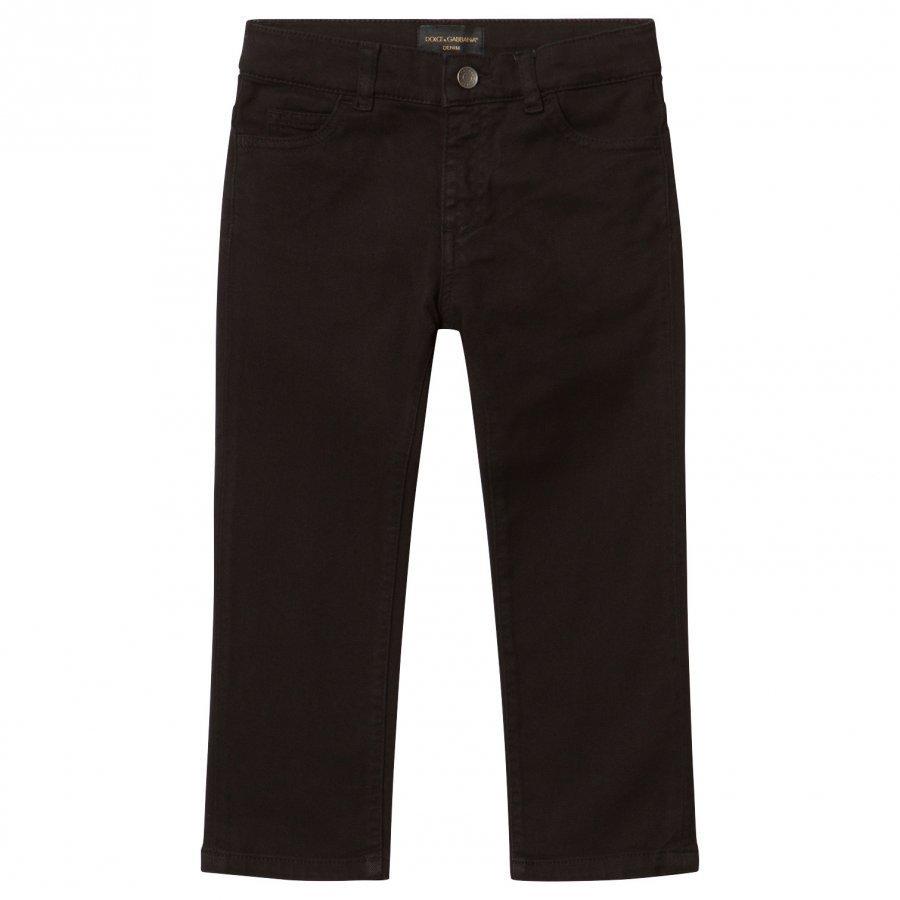 Dolce & Gabbana Black Jeans With Muscial Note Applique Farkut