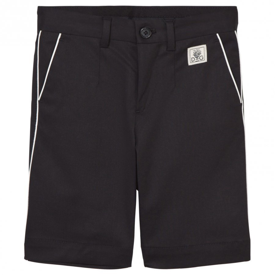 Dolce & Gabbana Black Shorts With White Piping Farkkushortsit