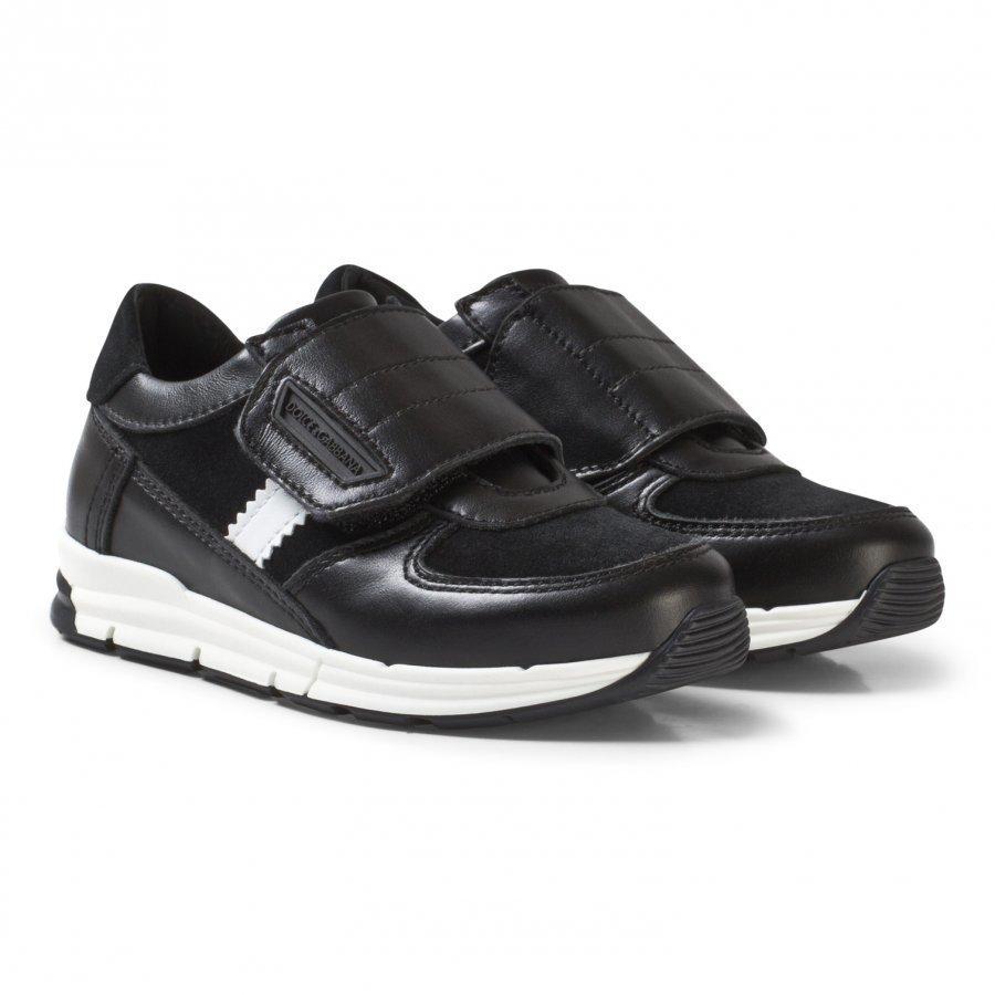 Dolce & Gabbana Black Velcro Branded Trainers Lenkkarit