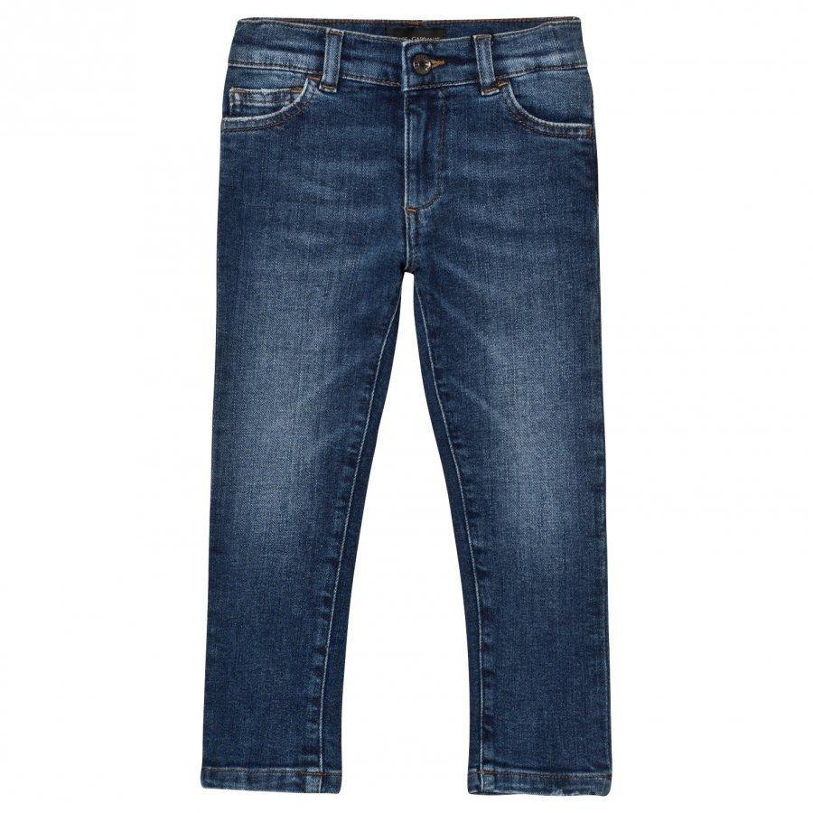 Dolce & Gabbana Blue Mid Wash Slim Fit Jeans Verryttelyhousut