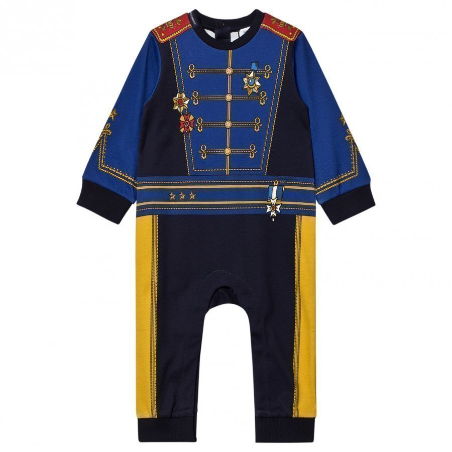 Dolce & Gabbana Blue Military Print One-Piece Body