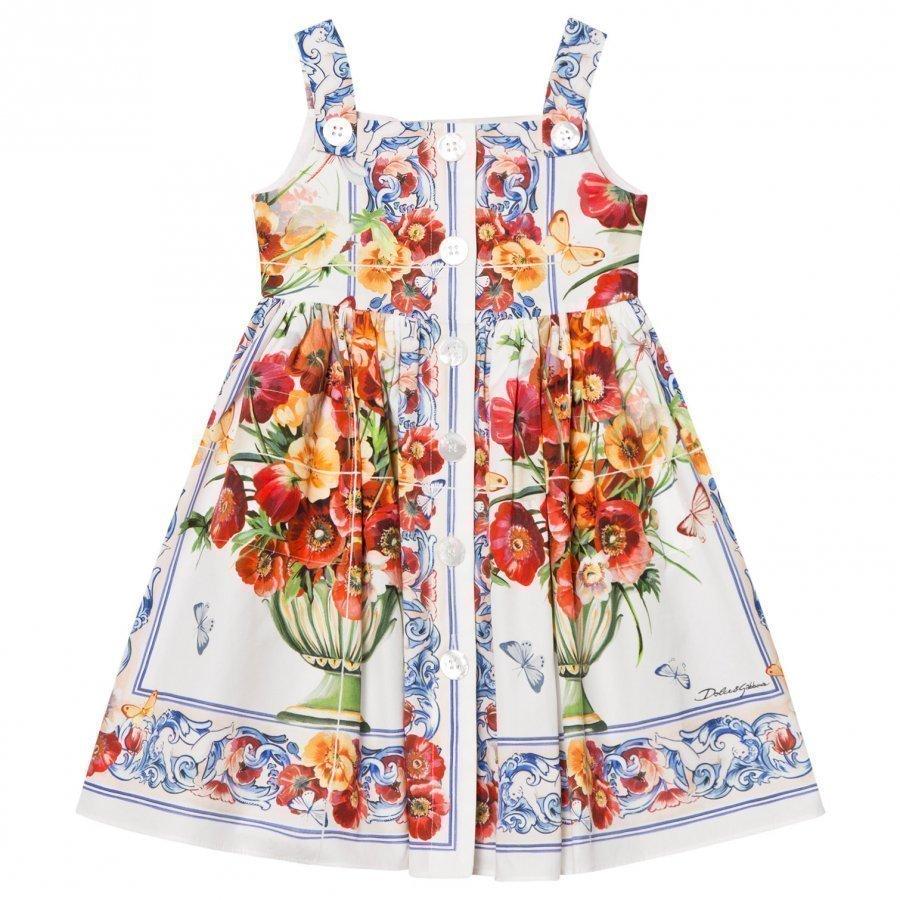 Dolce & Gabbana Floral Majolica Print Dress Juhlamekko