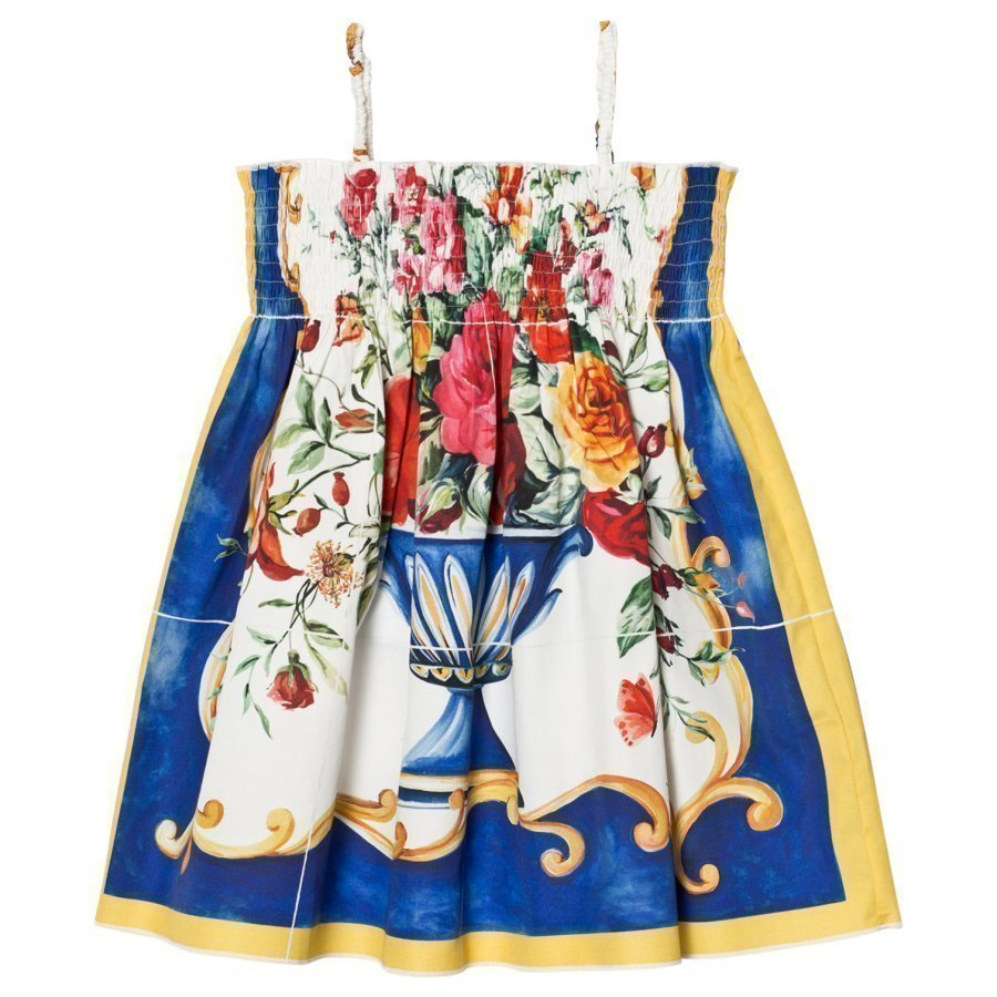Dolce & Gabbana Multi Floral Print Strappy Dress Mekko