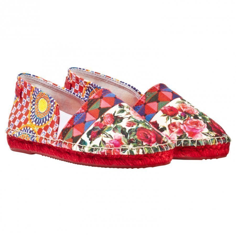 Dolce & Gabbana Multi Majolica Print Espadrille Espadrillot