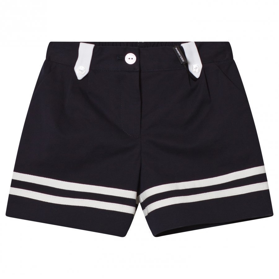 Dolce & Gabbana Navy White Sailor Shorts Juhlashortsit