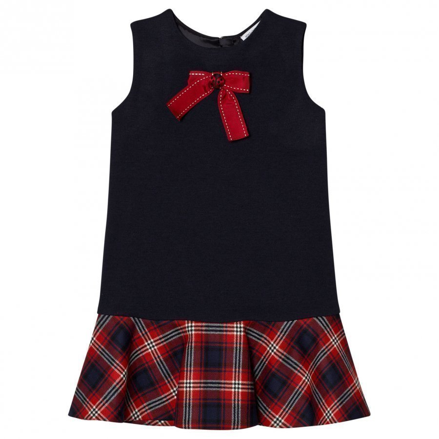 Dolce & Gabbana Navy/Red Tartan Dress Juhlamekko
