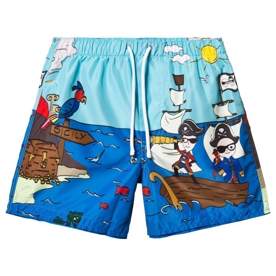 Dolce & Gabbana Pirate Cartoon Print Swim Shorts Uimahousut