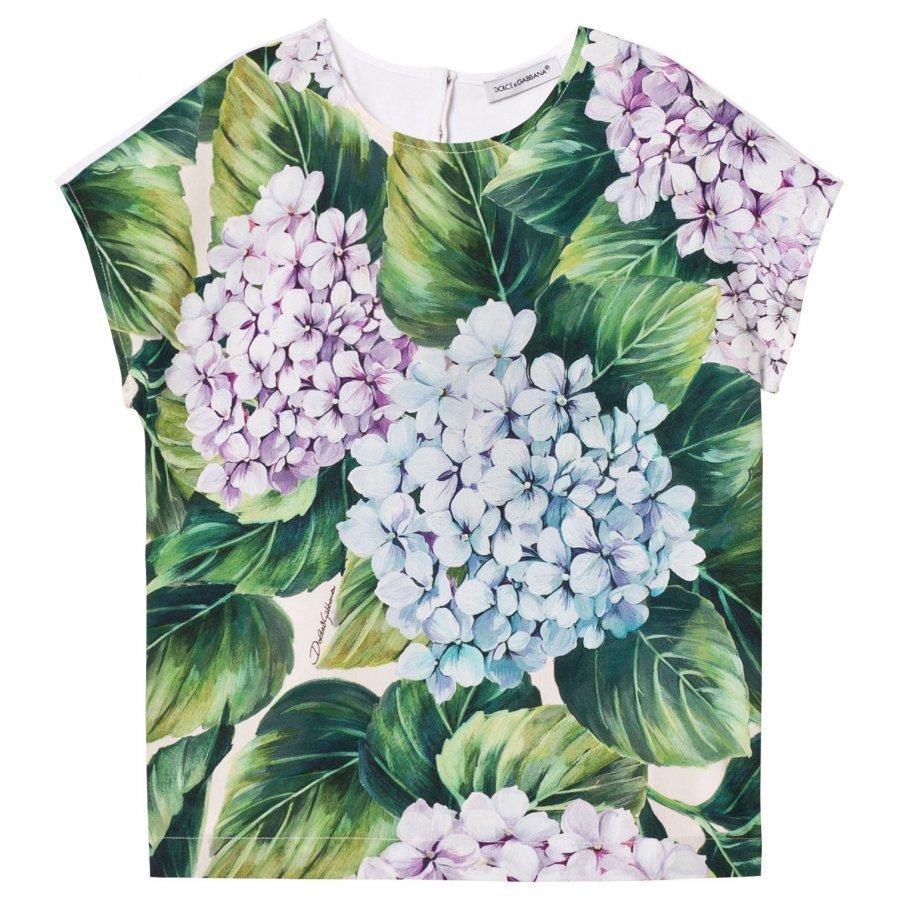 Dolce & Gabbana Printed Cotton Top T-Paita