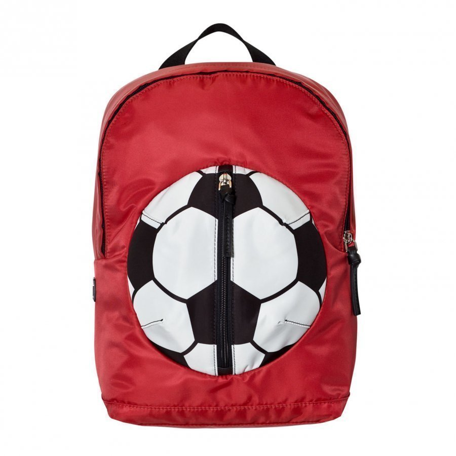 Dolce & Gabbana Red Football Backpack With Branded Plaque Reppu