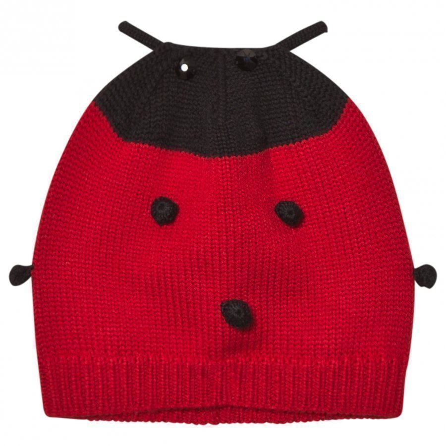 Dolce & Gabbana Red Ladybird Cashmere And Wool Hat Pipo
