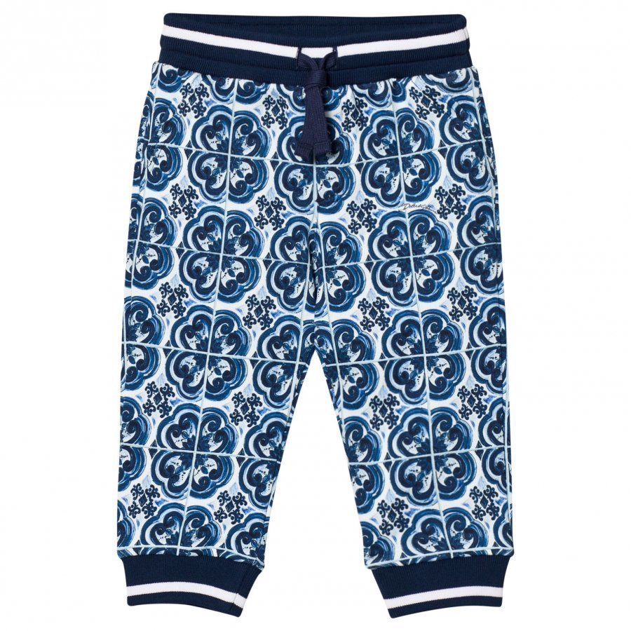 Dolce & Gabbana Sweatpants In Printed Cotton Blue Verryttelyhousut