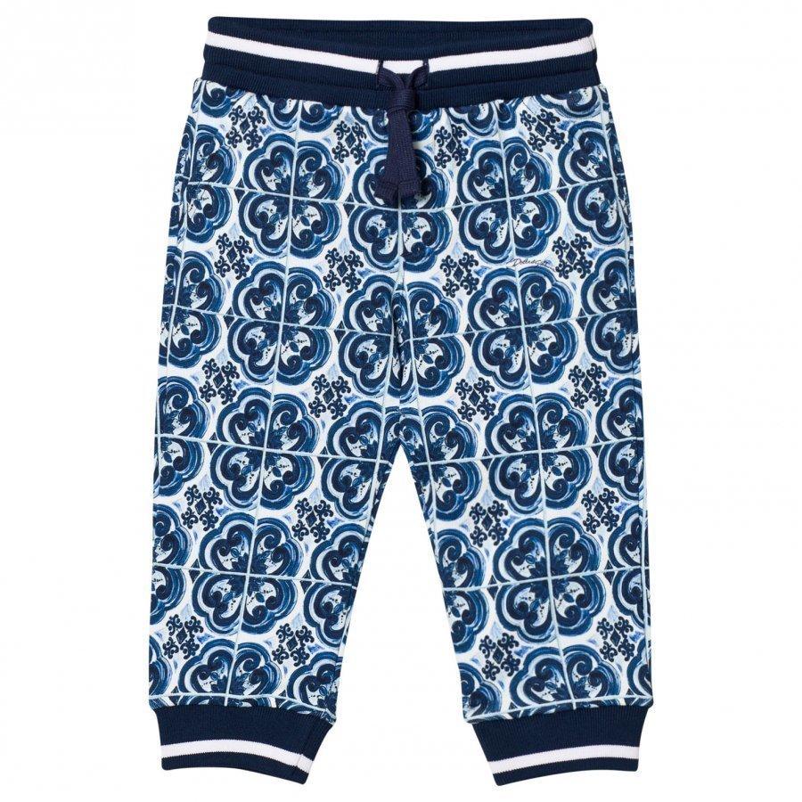 Dolce & Gabbana Sweatpants In Printed Cotton Blue Verryttelyhousut