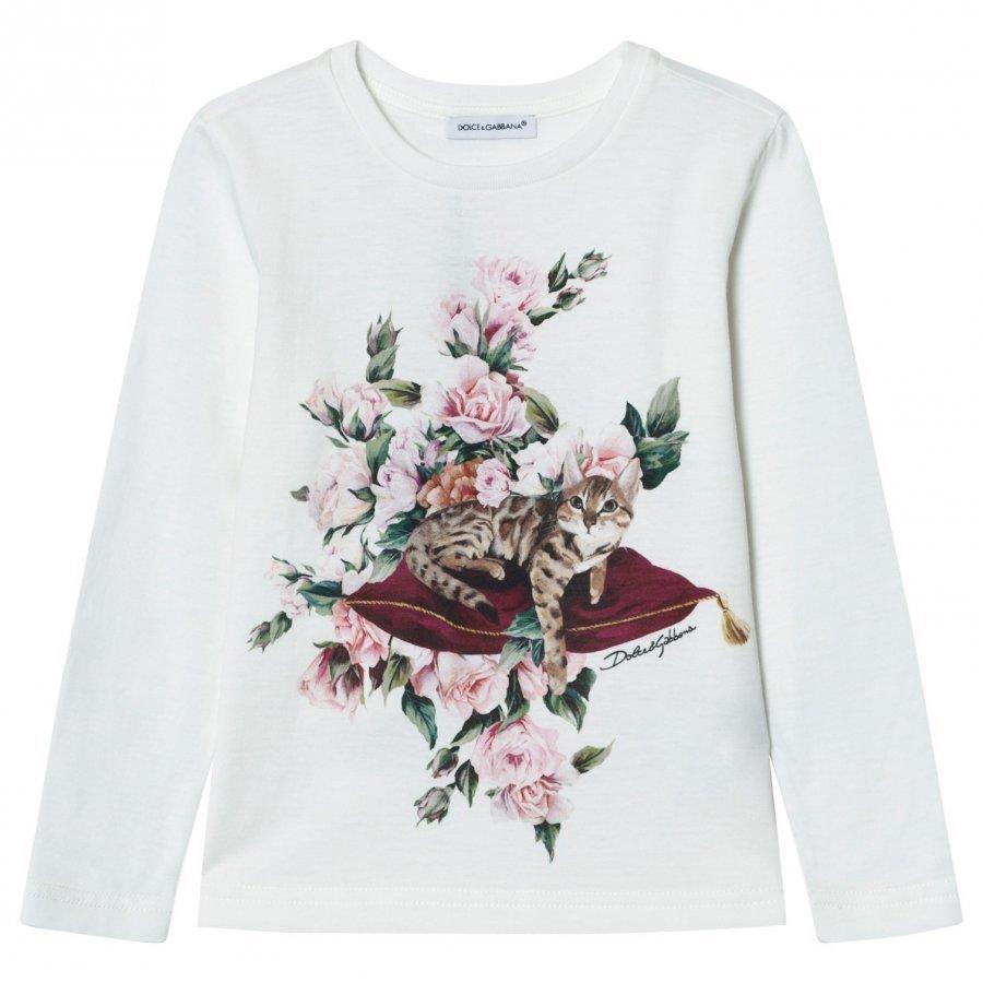 Dolce & Gabbana White Zambia Print Tee T-Paita