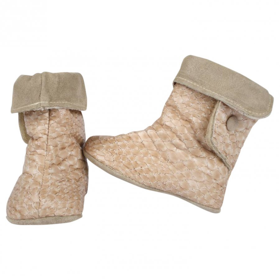 Dolly By Le Petit Tom Baby Boots Snake Beige 3-Ways Nilkkurit