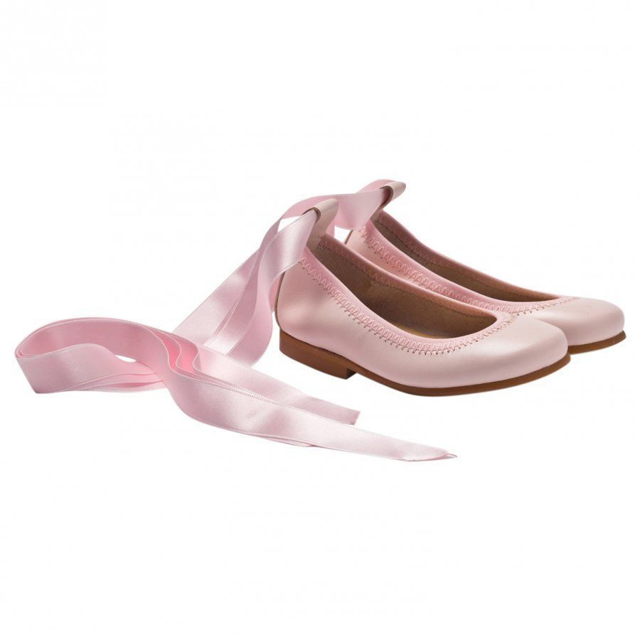 Dolly By Le Petit Tom Ballerina Light Pink Leather Ballerinat