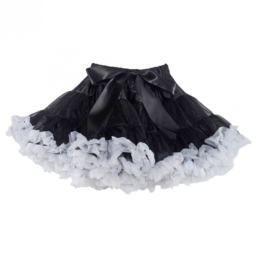 Dolly By Le Petit Tom Black Beauty Pettiskirt Black/White Midihame