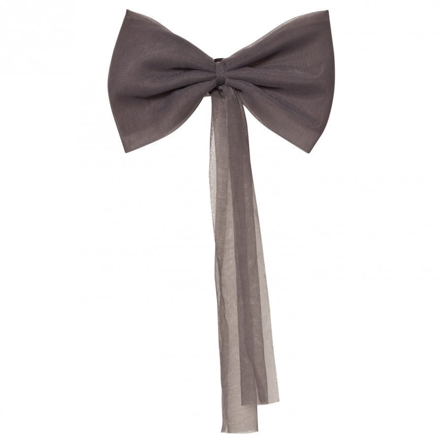 Dolly By Le Petit Tom Chiffon Hair Bow Dark Grey Hiusnauha