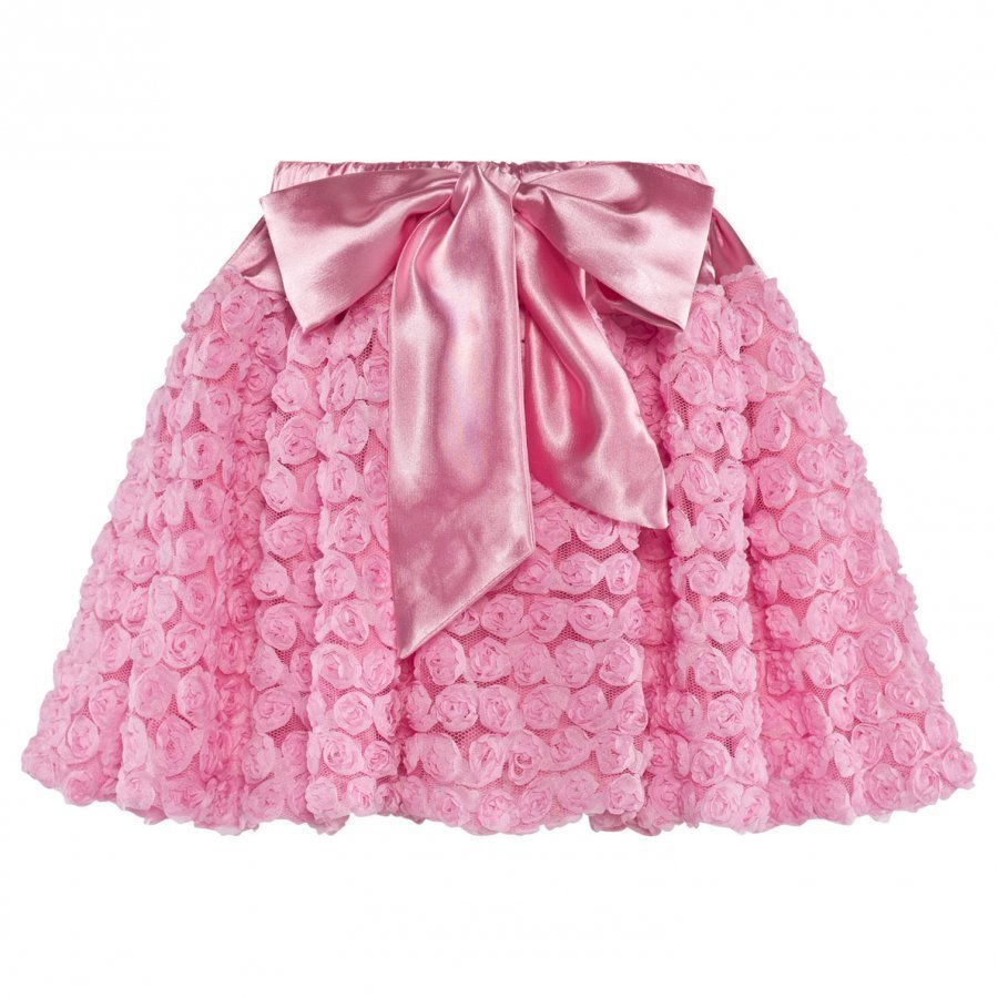 Dolly By Le Petit Tom Dolly Rosettes Balloon Skirt Pink Midihame