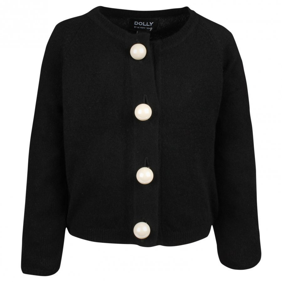 Dolly By Le Petit Tom Pearled Up Cardigan Black Neuletakki