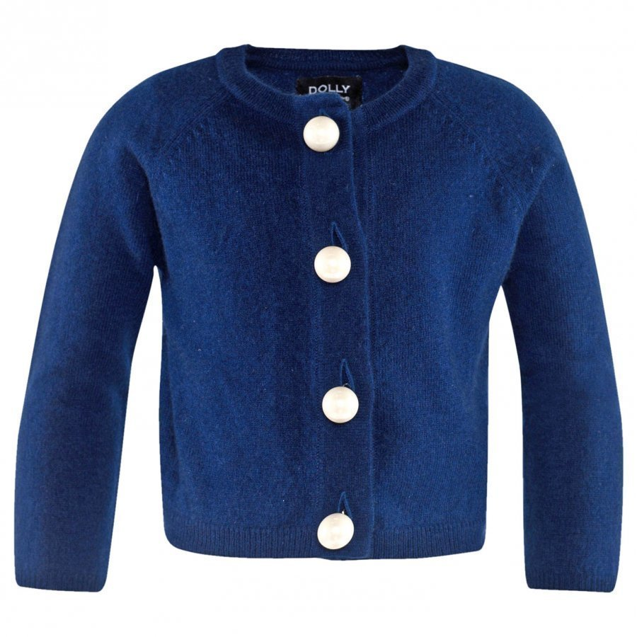 Dolly By Le Petit Tom Pearled Up Cardigan Cashmere Navy Neuletakki