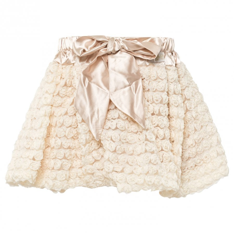 Dolly By Le Petit Tom Rosettes Balloon Skirt Cream Midihame