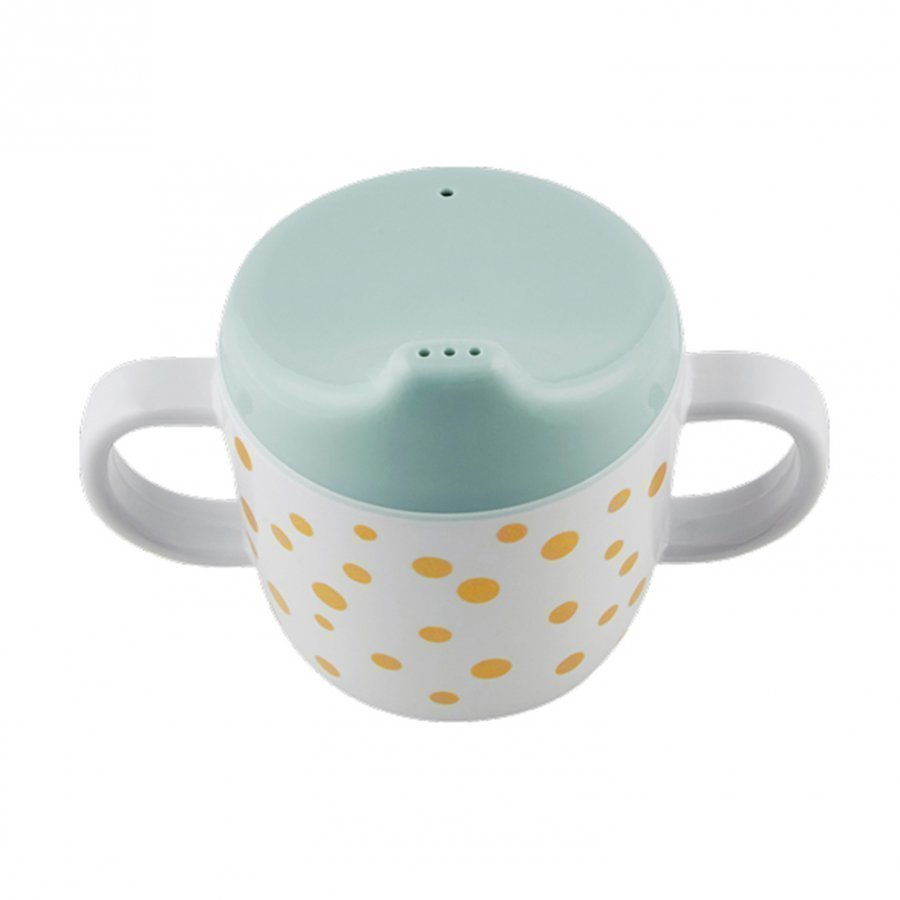 Done By Deer 2-Handle Spout Cup Happy Dots Gold/Blue Muki