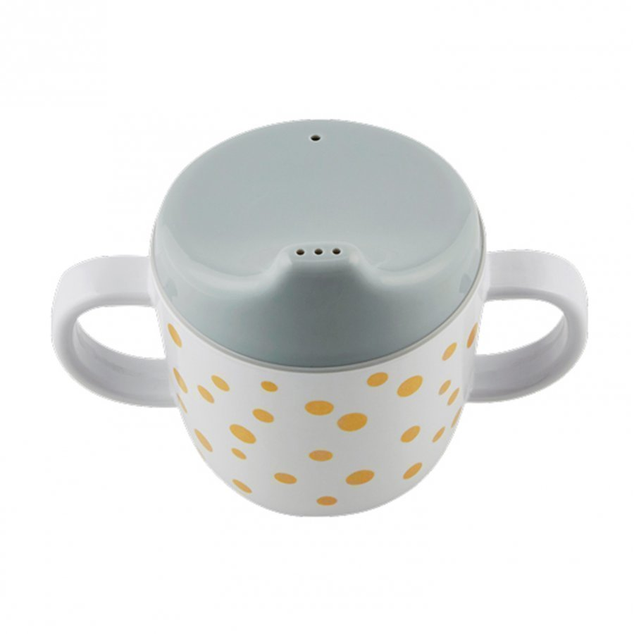 Done By Deer 2-Handle Spout Cup Happy Dots Gold/Grey Muki