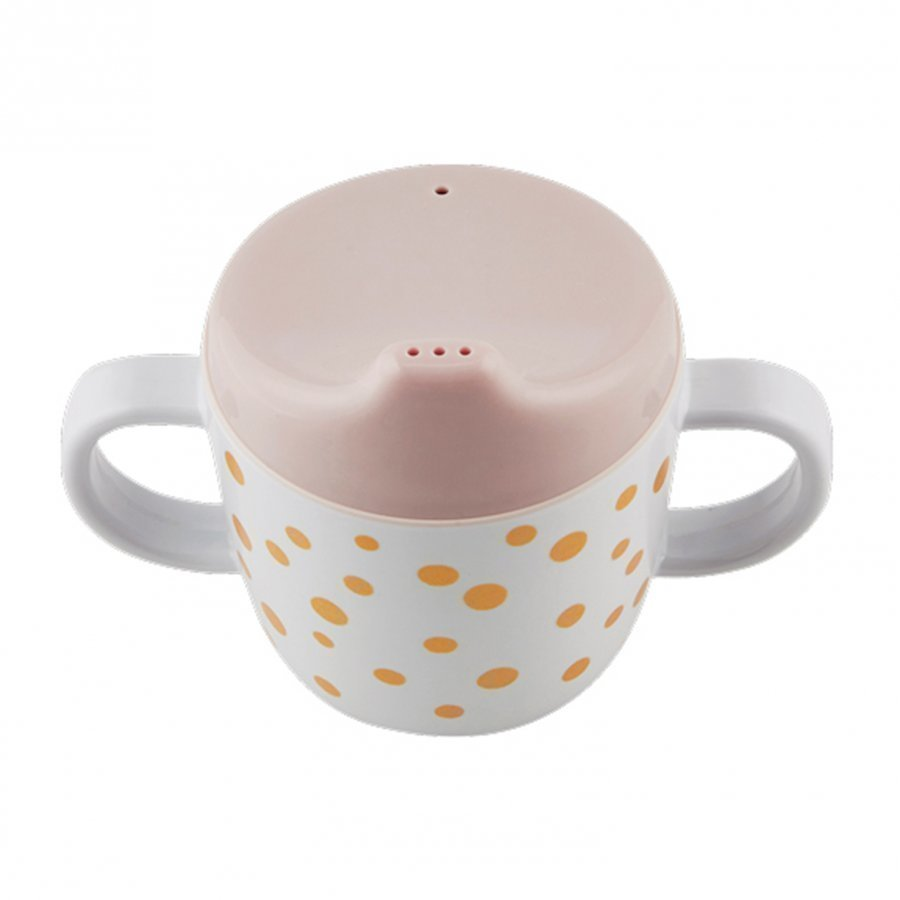 Done By Deer 2-Handle Spout Cup Happy Dots Gold/Powder Muki