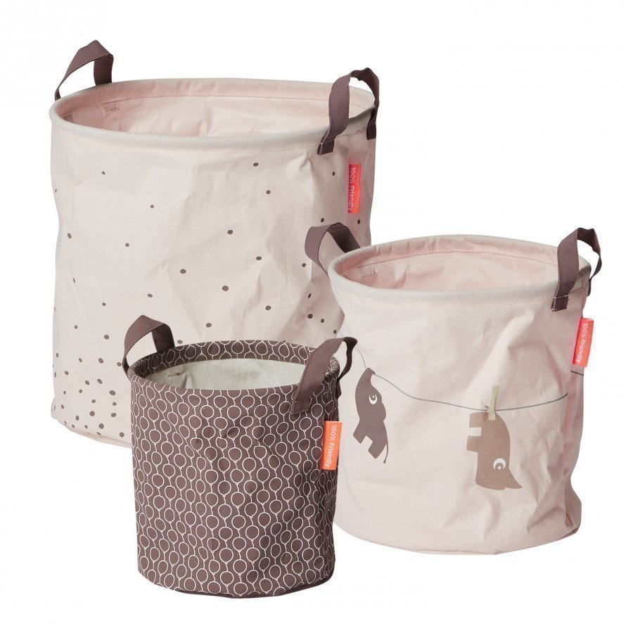 Done By Deer 3 Piece Soft Storage Baskets Powder Säilytyskori