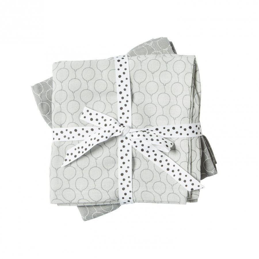 Done By Deer Balloon Burp Cloth 2-Pack Grey Huopa