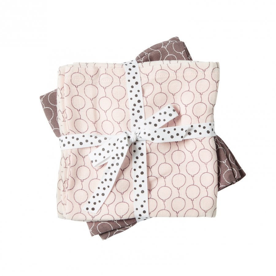 Done By Deer Balloon Burp Cloth 2-Pack Powder Huopa