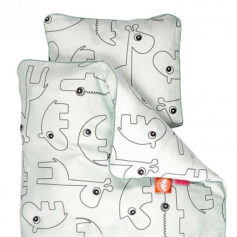 Done By Deer Contour Baby Bedlinen Blue Pussilakanasetti