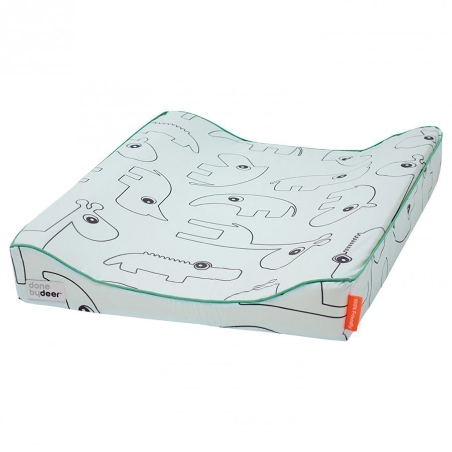 Done By Deer Contour Changing Pad Blue Hoitoalusta