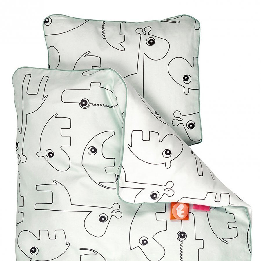 Done By Deer Contour Junior Bedlinen Blue Pussilakanasetti