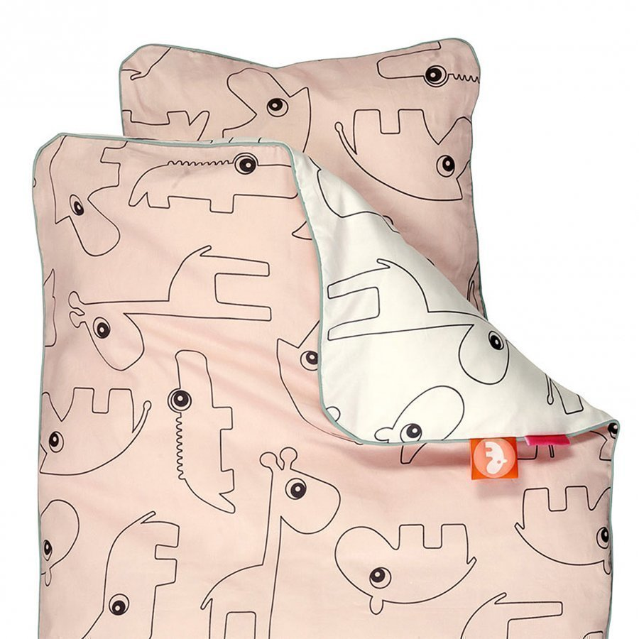 Done By Deer Contour Junior Bedlinen Powder Pussilakanasetti