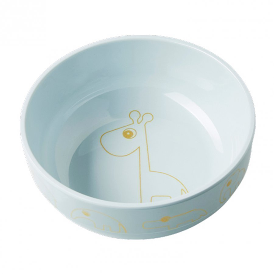 Done By Deer Contour Yummy Bowl Gold/Blue Kulho