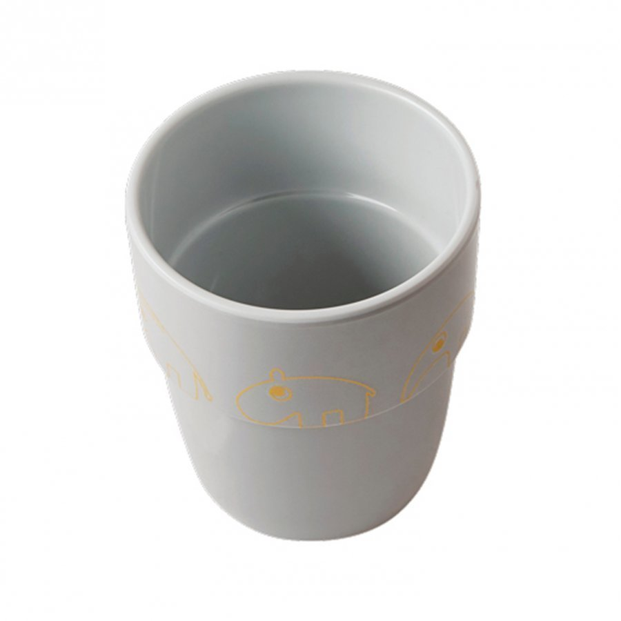 Done By Deer Contour Yummy Mug Gold/Grey Muki